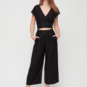 Wilfred Brax Wrap Jumpsuit Black